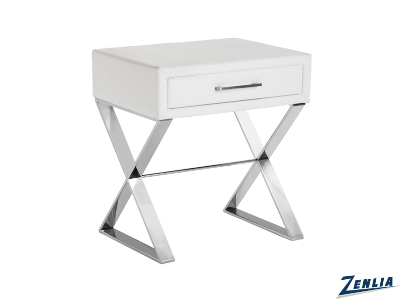 Cas White End Table