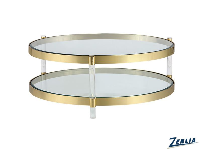 York Round Glass Brass