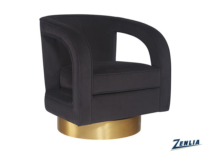 Ant Swivel Club Chair- Abbington Black
