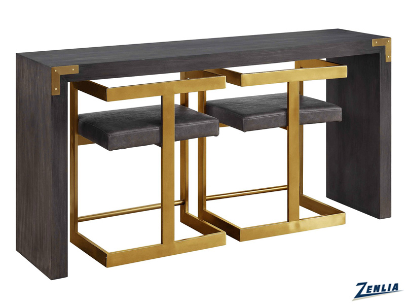 304-54 Console Table With Two Stools