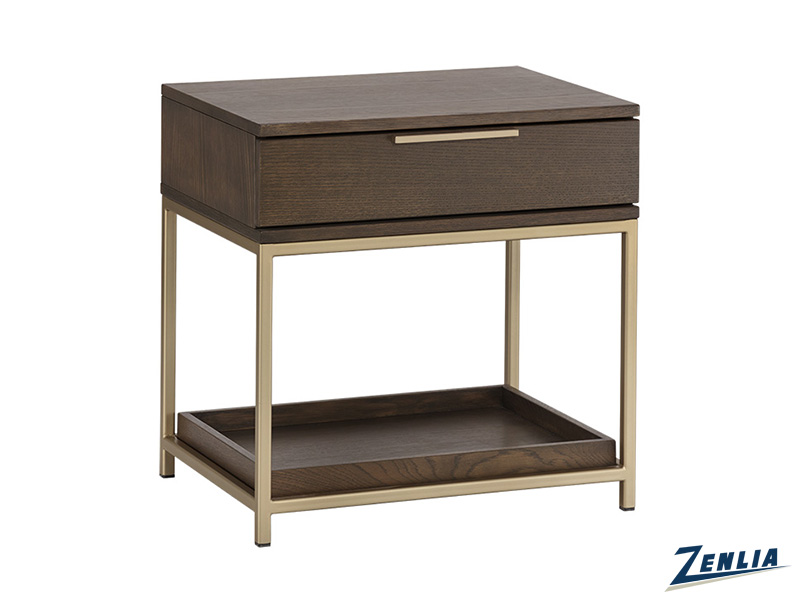 Reb End Table In Raw Umber