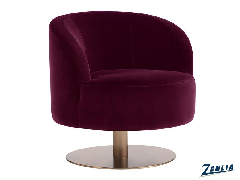 Peg Swivel Club Chair - Giotto Cabernet
