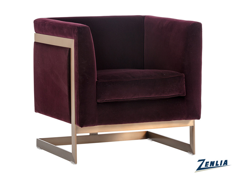 Soh Armchair - Antique Brass - Giotto Cabernet