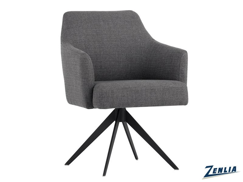 Syd Swivel Chair - Coastal Grey