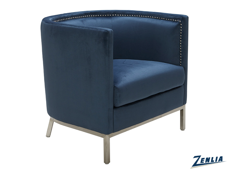 Wal Armchair - Ink Blue