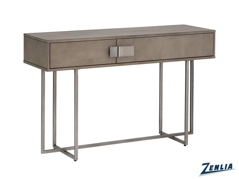 Jad Console Table - Antique Silver - Ash Grey
