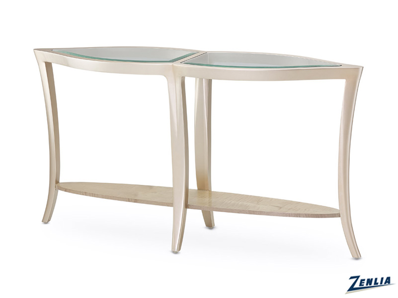 Malib Glass Console Table