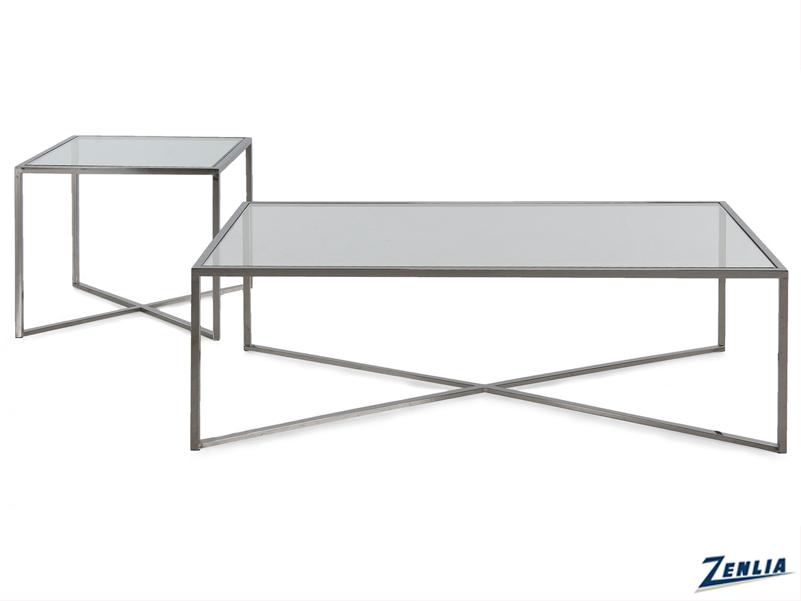 Cross Glass Coffee Table