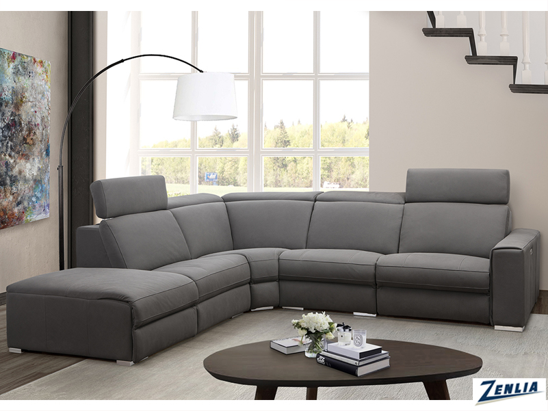 Vien Modern Sectional Sofa With Power Headrest