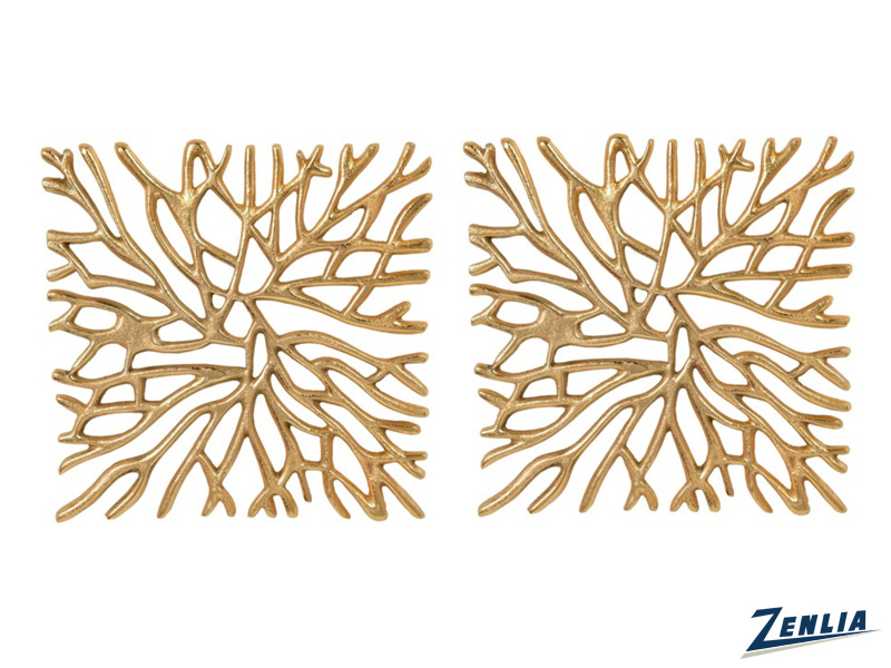 Set Of Two Gold Wall Art
