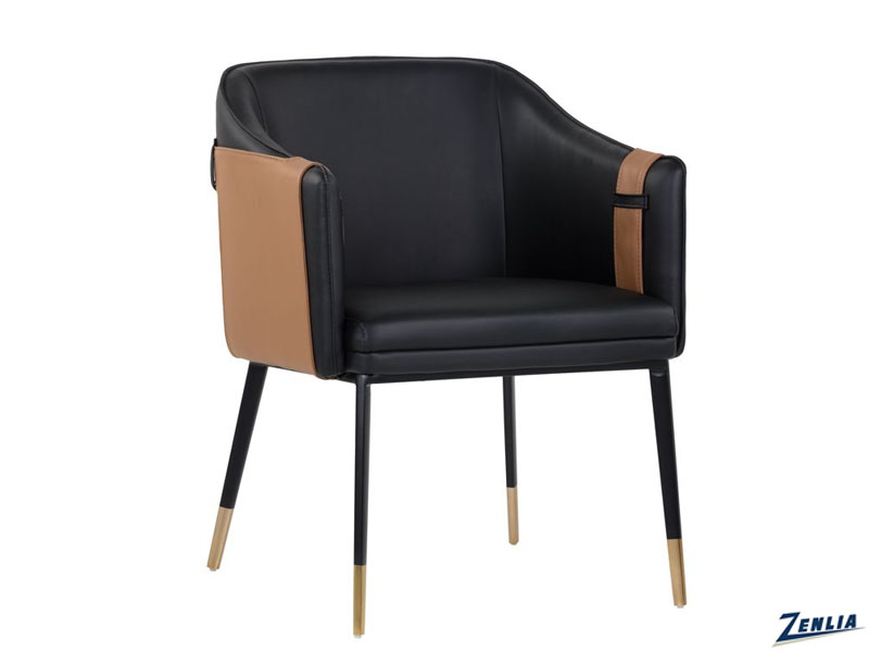 cart-dining-arm-chair-black---cognac-image