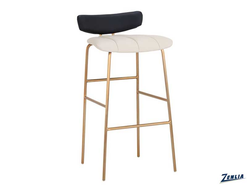 lorel-bar-stool-cream---black-image