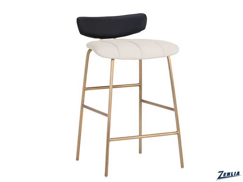 lorel-counter-stool-cream---black-image